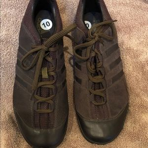 New Men's Adidas Brown leather shoes, size 10